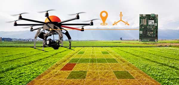 无人机采用惯性组合导航接收机